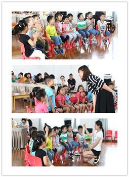百合花幼儿园潘玉婷老师开展的是大班音乐活动《玩具兵进行曲》,让