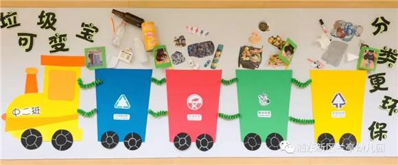 幼儿园与家长进行沟通,请家长为幼儿们做好榜样,垃圾正确分类进桶,不