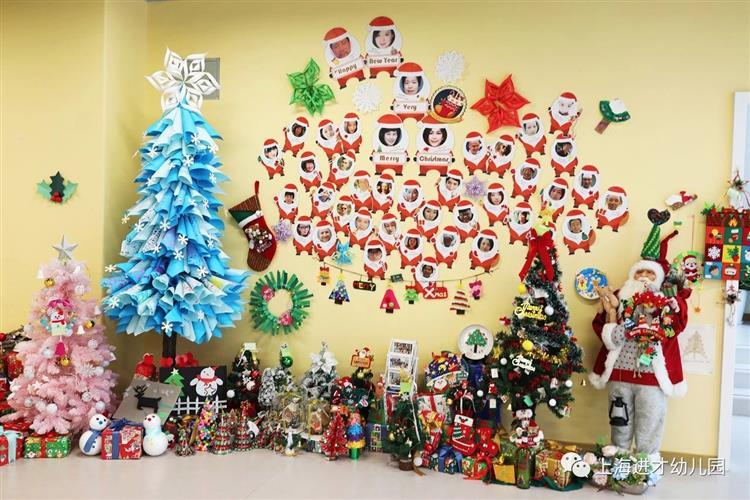 "bells,jingle all the way~""这个圣诞节,上海进才幼儿园有点热闹."