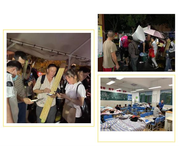 心安之处便是家,台风登陆,嘉定教育人与撤离人员守望相助
